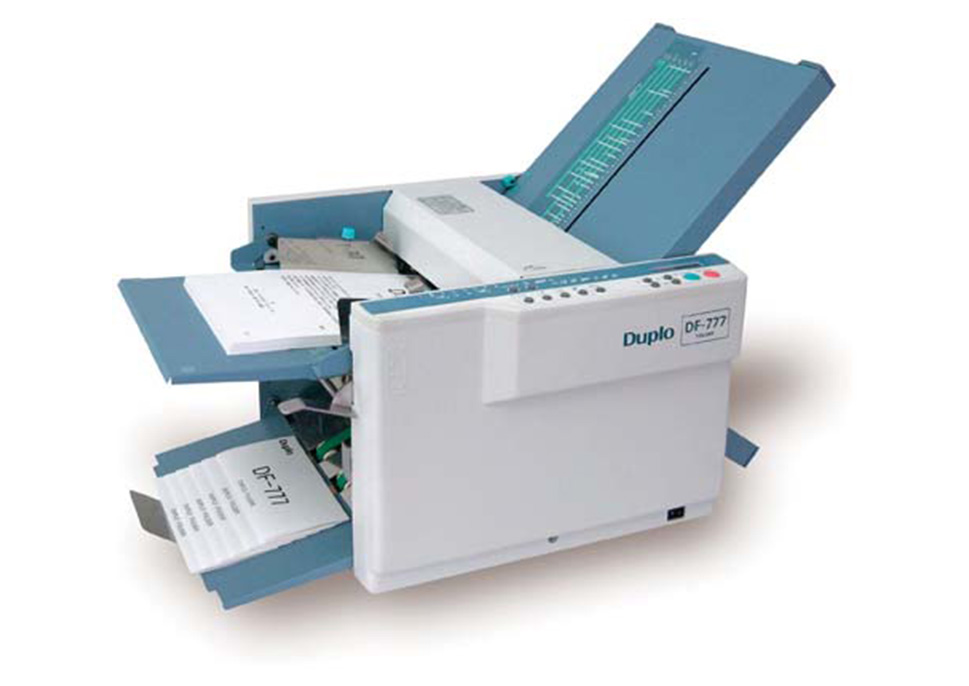 Duplo DF 777 Paper Folder, Feeding and Finishing: Xerox
