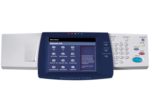 WorkCentre 7425/7428/7435 Full Color Touch Screen